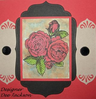 Copic Background Roses